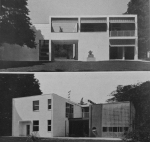 Figure 7.4: Giuseppe Terragni and the Como Group, Artist's Lakeside Villa. Photographs of front and back façades. From Domus, October 1933, 536. Copyright Editoriale Domus S.p.A. Rozzano, Milano, Italy.