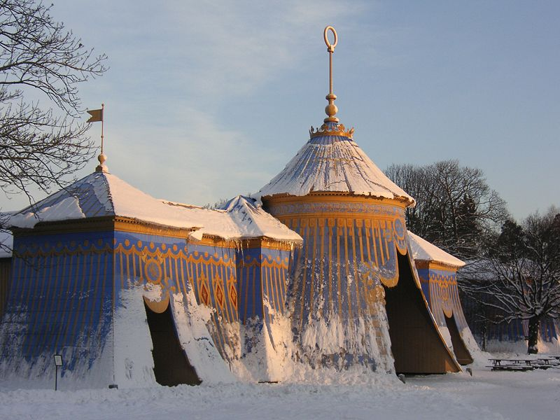 Figure 1.1: The Sultan's Copper Tents, Drottningholm Palace, Sweden, 1787. Photograph: Holger Elgaard.