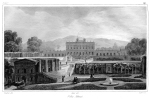 Figure 2.1: Southeast view of Villa Albani with Caffeaus, early nineteenth century (Bouchet and Aubert) © Jane Lomholt [Note: Author is owner of print]