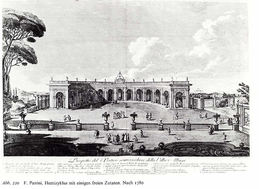 2.3: Semi-circular portico of Caffeaus by Francesco Panini (after 1780).