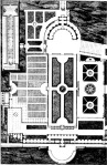 Figure 2.5: Plan of Villa Albani by Charles Percier and Pierre-Francois Fontaine. (North is at bottom of image).