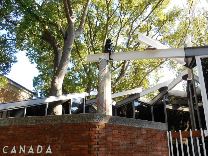 Figure 3.25: View of the entrance to the Canadian pavilion. Photograph: Joel Robinson.