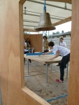 Figure 15.3: Harriet Harriss (with students from Oxford Brookes University and Montana State University), Ping Pong Pavilion, London Festival of Architecture, 2012. Courtesy of Harriet Harriss.