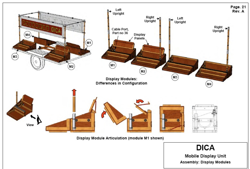 Figure 13.7: DICA mobile display unit drawings. Courtesy of the artists.