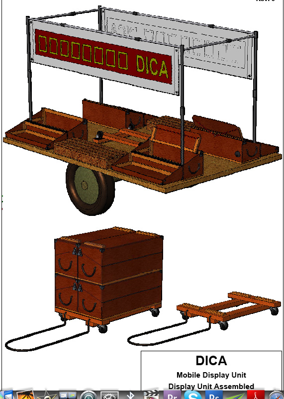 Figure 13.8: DICA mobile display unit drawings. Courtesy of the artists.