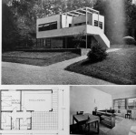 Figure 7.9: Enrico Griffini, Piero Bottoni and Eugenio Faludi, Beach Villa 4. Exterior photo, plan, interior view of living area showing extent of natural light. From Domus, July 1933, 296. Copyright Editoriale Domus S.p.A. Rozzano, Milano, Italy.