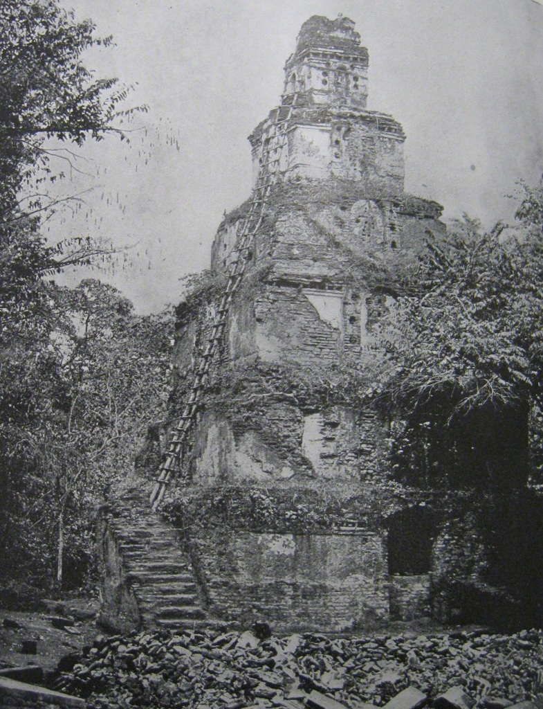 4.5: Photograph of 'The Palace of Seven Stories, or Sat-Mahal- Prasada, at Polonnaruwa.' in National Geographic. W.M. Zumbro, photographer (November 1909) 'The Temples of India', pp. 922-71. Scanned from personal copy. Courtesy of the author.