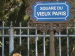 Figure 17.11 Street sign, 'Square du vieux Paris', Nogent-sur-Marne. Photograph: Michaela Giebelhausen.